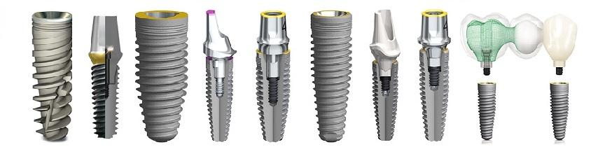 Виды зубных имплантов